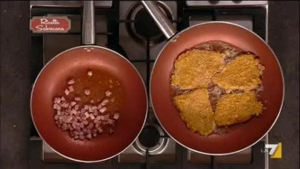 Petti Di Tacchino Impanati Con Insalata
