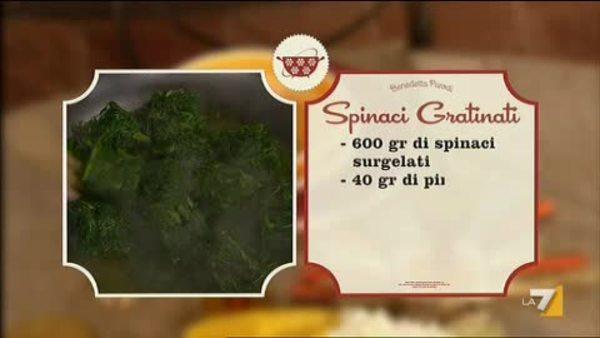 I menu di benedetta  spinaci gratinati la