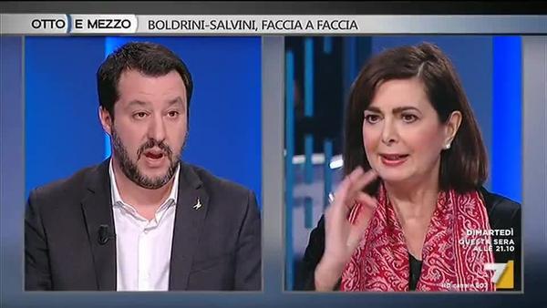 Discorso Camera Boldrini : Laura boldrini a matteo salvini: lei vuole controllare il paese e