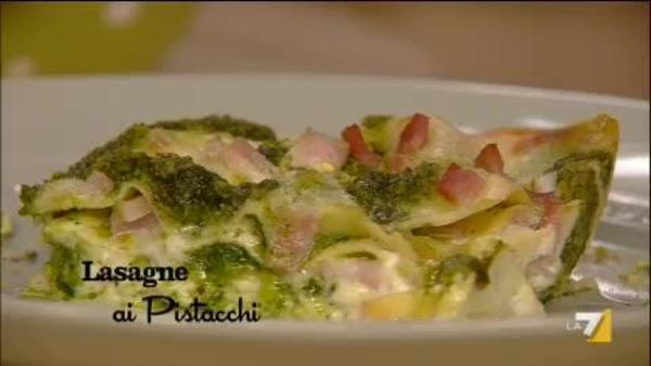 Lasagne Ai Pistacchi Benedetta Parodi Imenudibenedettala7it