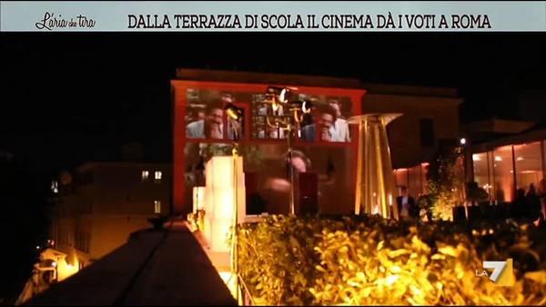 Dalla Terrazza di Scola il cinema dà i voti a Roma