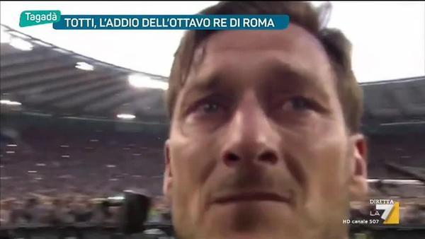 Totti, l'addio dell'ottavo Re di Roma