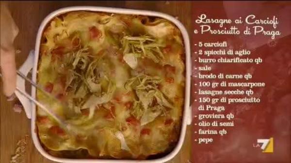 Lasagne Carciofi E Prosciutto Cotto Benedetta Parodi