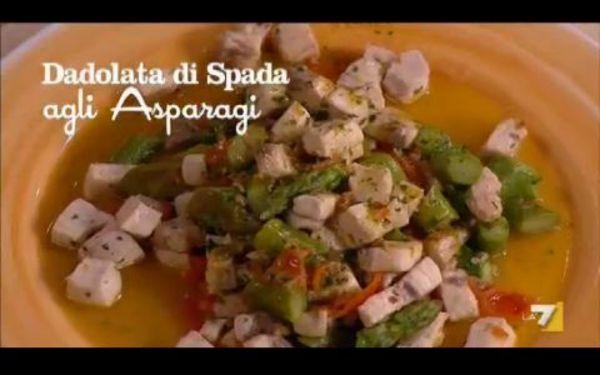Dadolata di Spada agli Asparagi