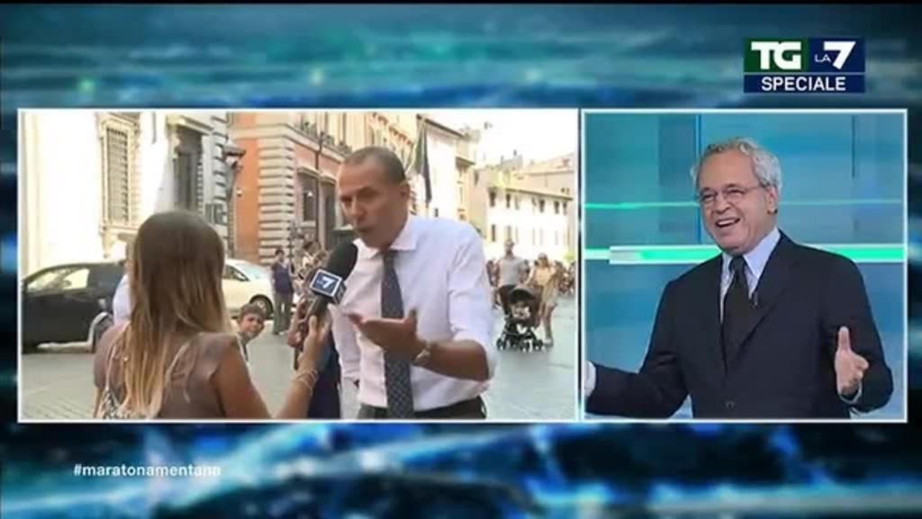 Il retroscena sulla telefonata tra Salvini e Zingaretti svelato da Mentana . - VIDEO -
