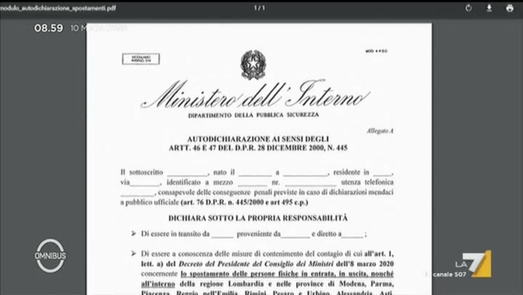 Italia Zona Rossa Modulo Autocertificazione Non Ancora Aggiornato Sul Sito Degli Interni